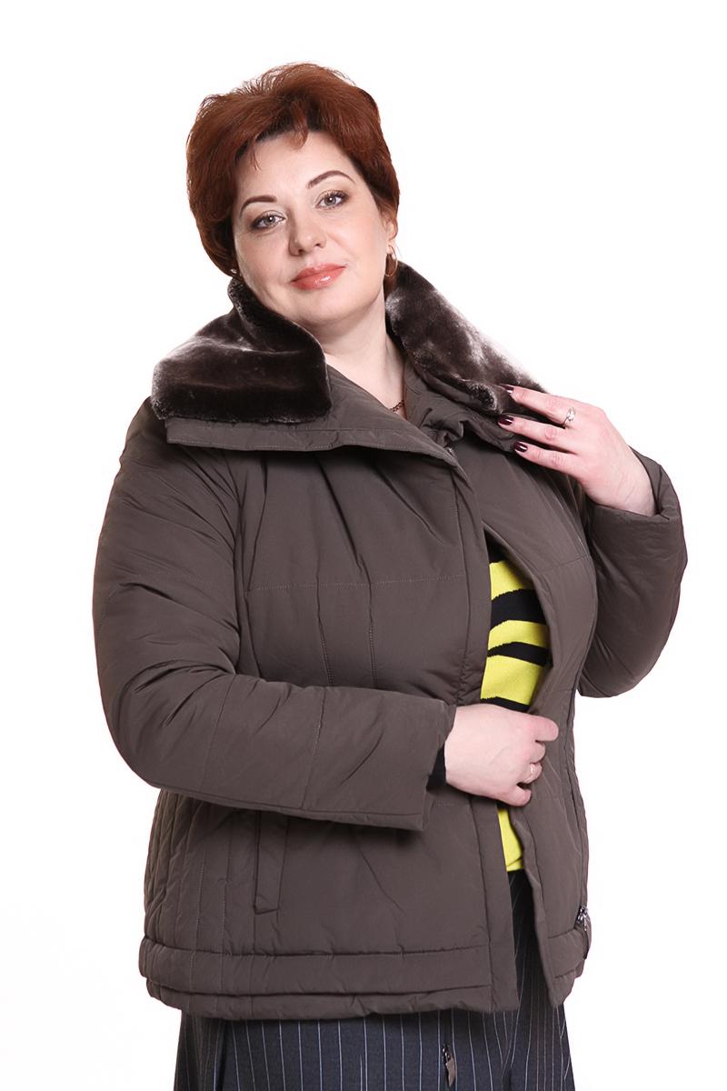 """Куртка """"Rils"""" (ФИНЛЯНДИЯ) с меховым воротникомЦвет: коричневый. - 8500 руб"""