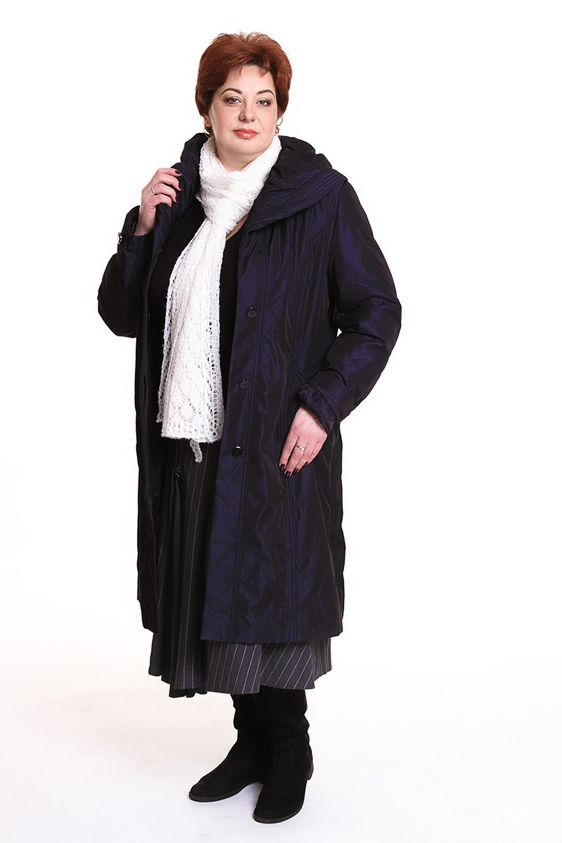 "Пальто ""ALBANA"" (КИТАЙ) Цвет: темно-синий. - 13990 руб"