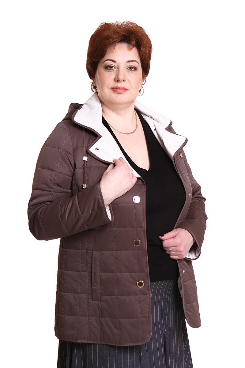"""Куртка """"ALBANA"""" (КИТАЙ) Цвет: коричневый. - 14600 руб"""