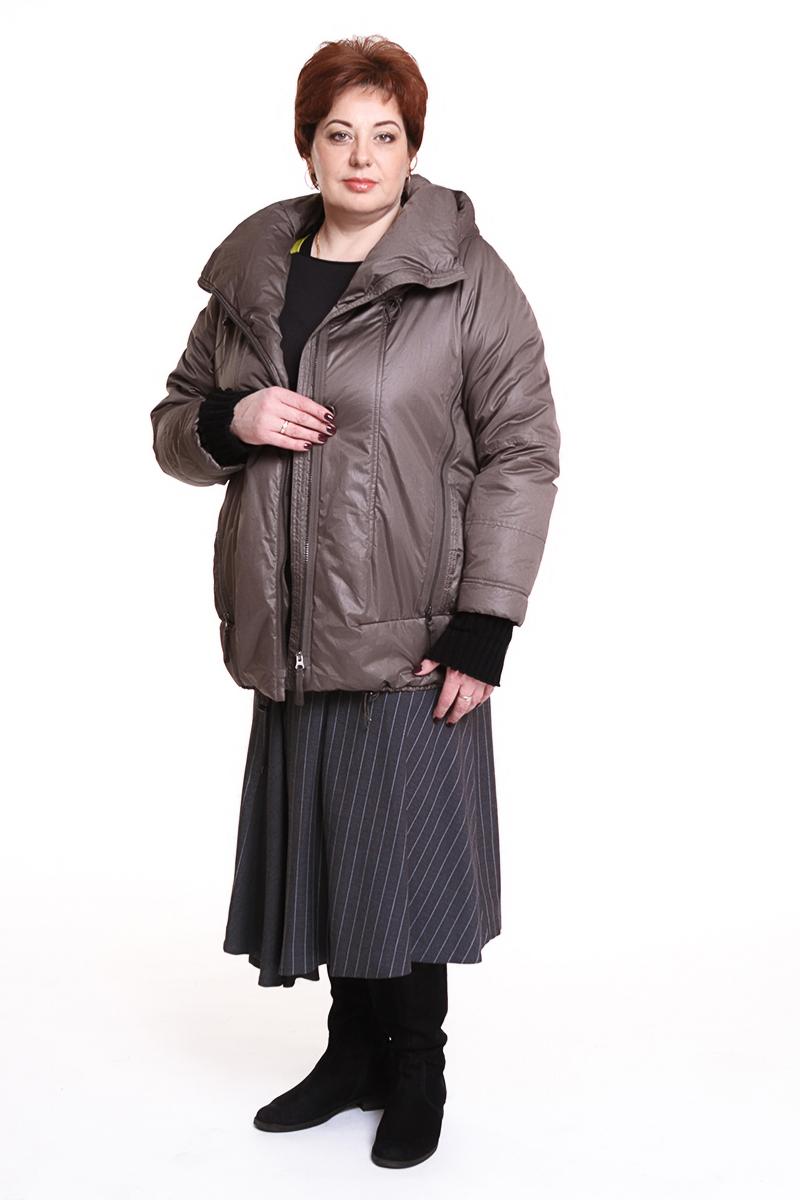 """Куртка """"SULU"""" (ГЕРМАНИЯ) вязанный рукав Цвет: темно-бежевый. - 24500 руб"""