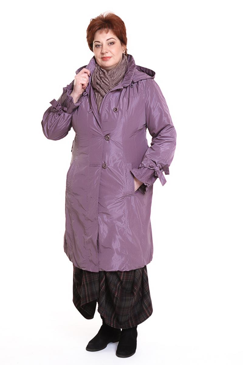 """Пальто """"Romantic"""" (РОССИЯ) Цветы: серый, розовый, сиреневый. - 5990 руб"""