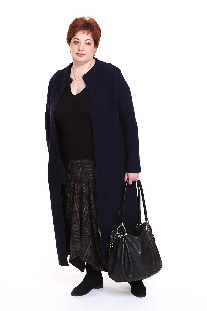 """Пальто """"Oblique"""" (ИТАЛИЯ) (шерсть)Цвет: синий. - 34500 руб"""