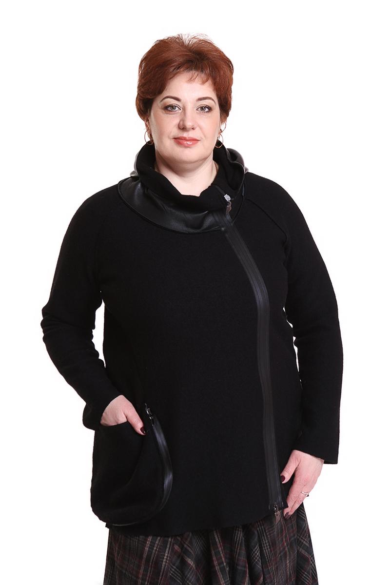 """Жакет """"Oblique"""" (ИТАЛИЯ) (шерсть)Цвет: черный. - 31500 руб"""