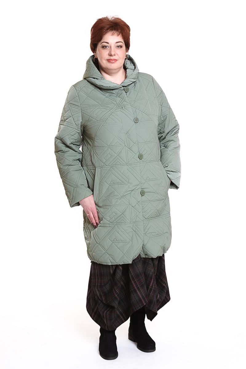 """Пальто """"Romantic"""" (РОССИЯ)Цвет: светло-зеленый. - 7300 руб"""
