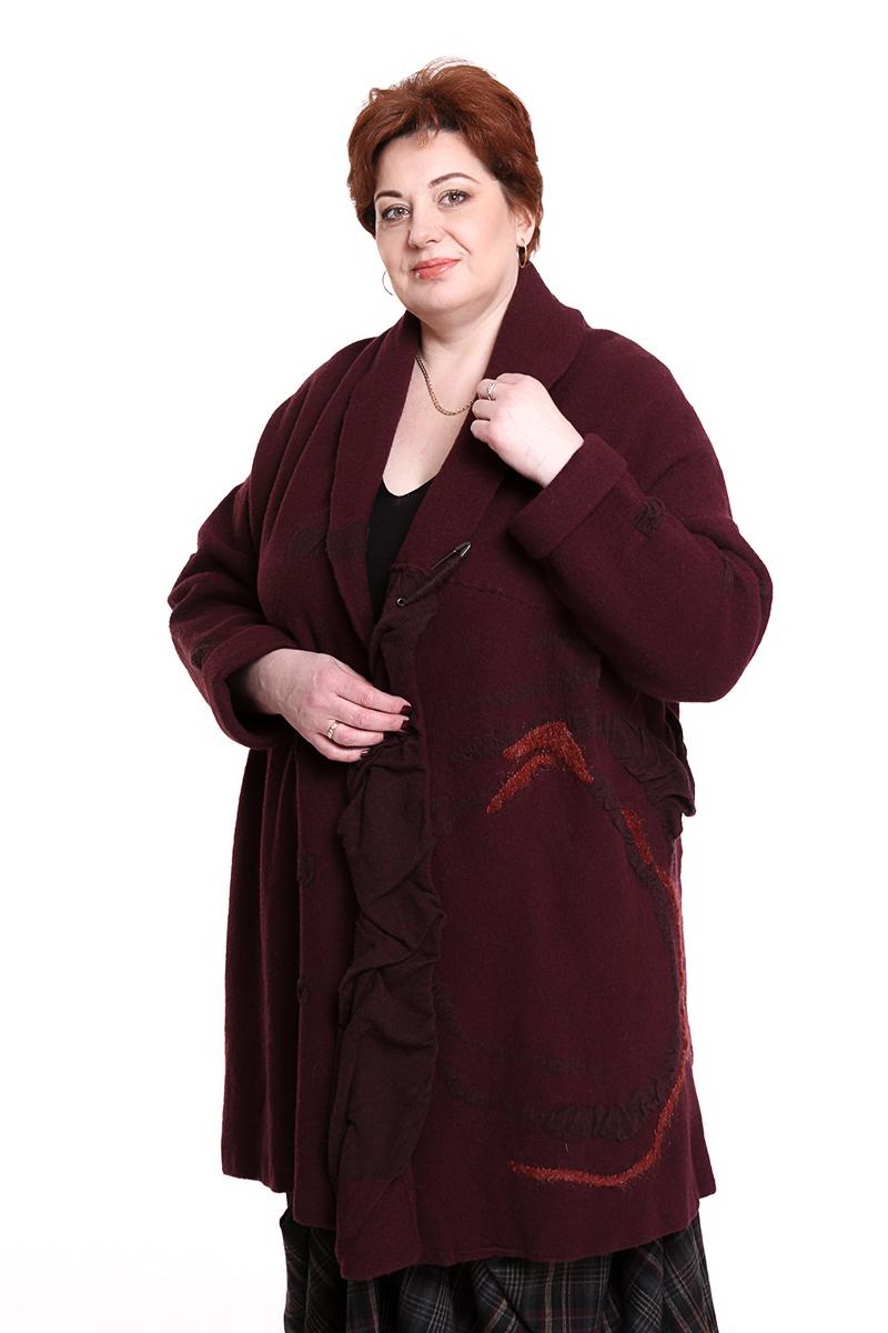 """Пальто """"MOYURU"""" (ЯПОНИЯ) (шерсть)Цвет: бордо. - 37500 руб"""