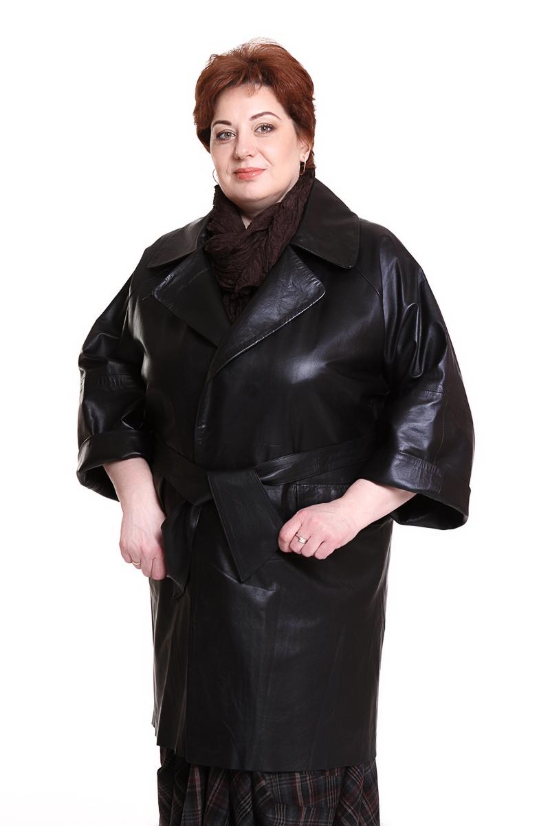 """Пальто """"Nordini"""" (ТУРЦИЯ) с укороченным рукавомЦвет: черный. - 58500 руб"""