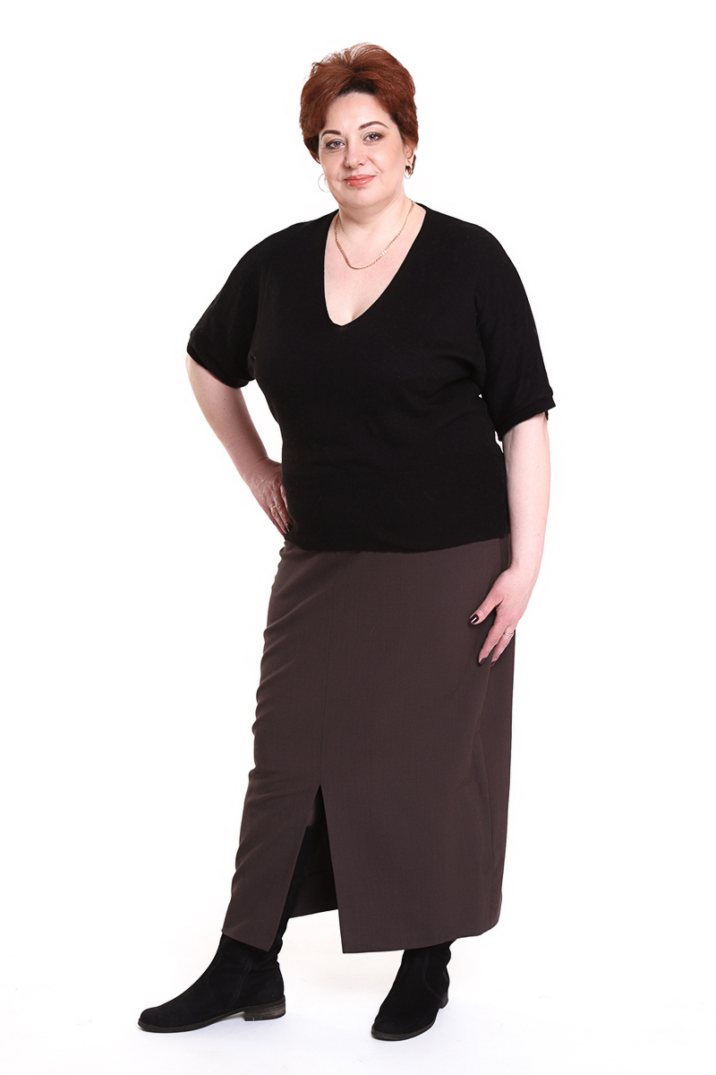 """Юбка """"Oblique"""" (ИТАЛИЯ)Цвет: коричневый, хаки. - 15600 руб"""
