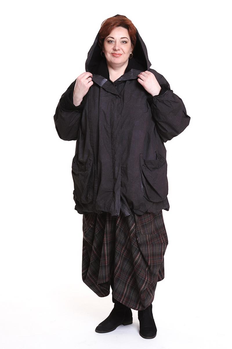 "Куртка ""Barbara"" (ГЕРМАНИЯ) с капюшономЦвет: темно-серый"