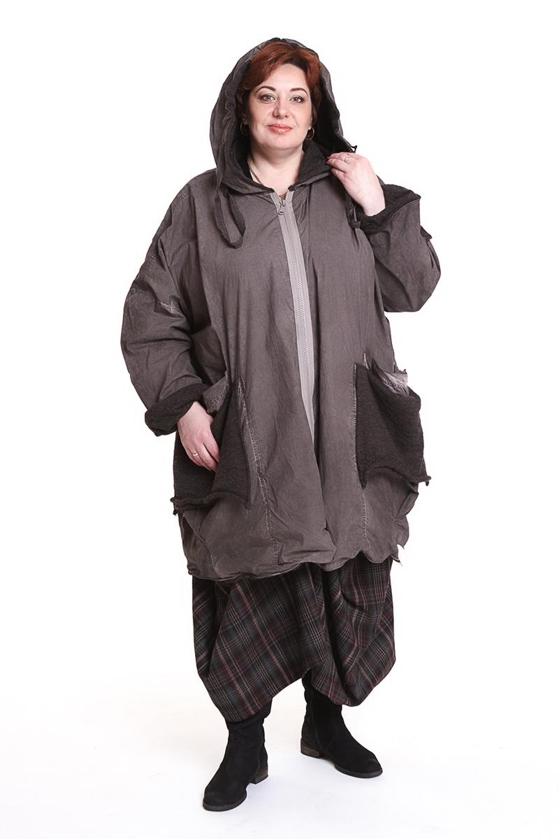 "Куртка ""Barbara"" (ГЕРМАНИЯ) с капюшономЦвет: бежевый, серый. - 41600 руб"