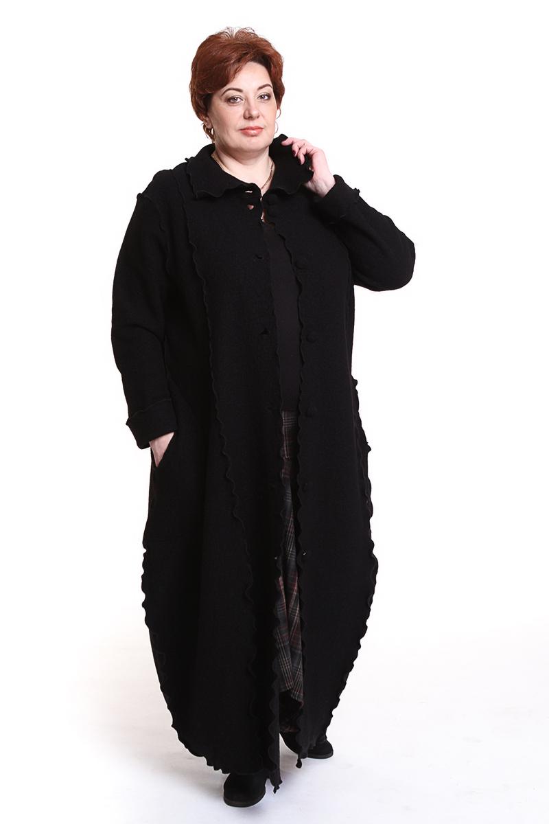 """Пальто """"Gudrun Grenz"""" (ГЕРМАНИЯ) (шерсть)Цвет: черный. - 46990 руб"""