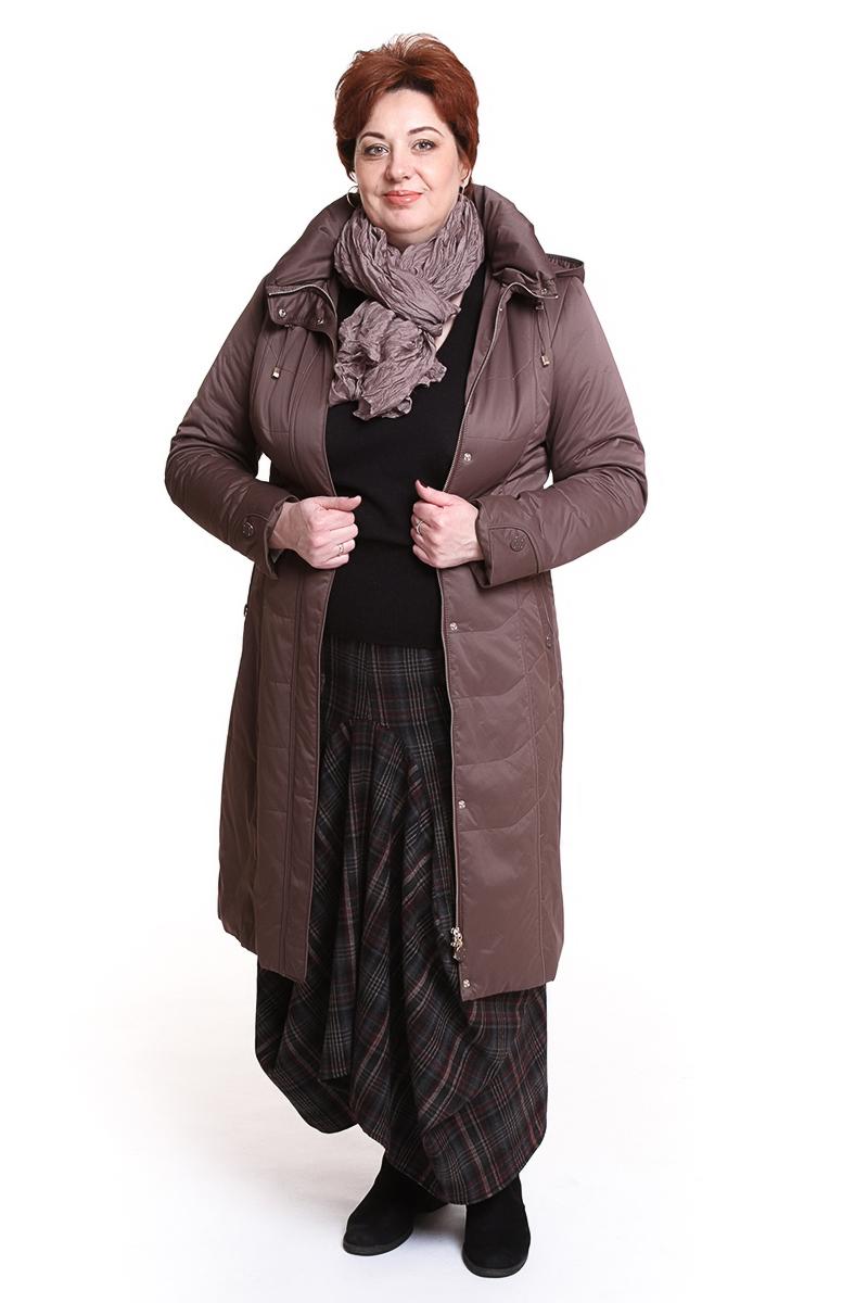 """Пальто """"ALBANA"""" (КИТАЙ) Цвет: капучино, бежевый, серый. - 16990 руб"""
