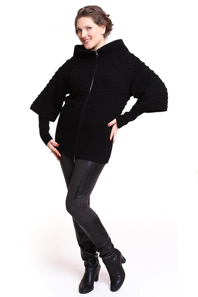 Жакет Oblique (ИТАЛИЯ) вязанный на молнии Цвет: черный. - 17500 руб