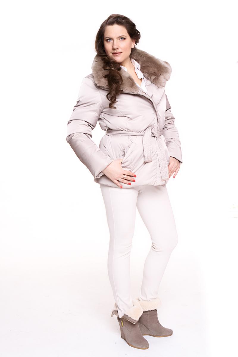 Куртка Rils (ФИНЛЯНДИЯ) капюшон оторочен мехом Цвет: бежевый. - 19900 руб
